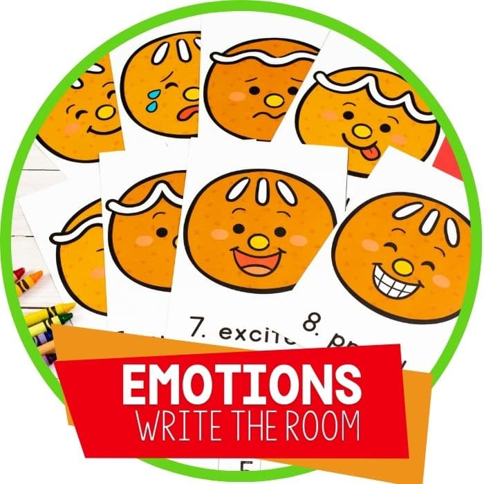 Write the Room Emotions Activity for Preschoolers
