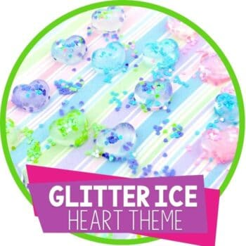 glitter heart ice summer art and science activity for kids featured image