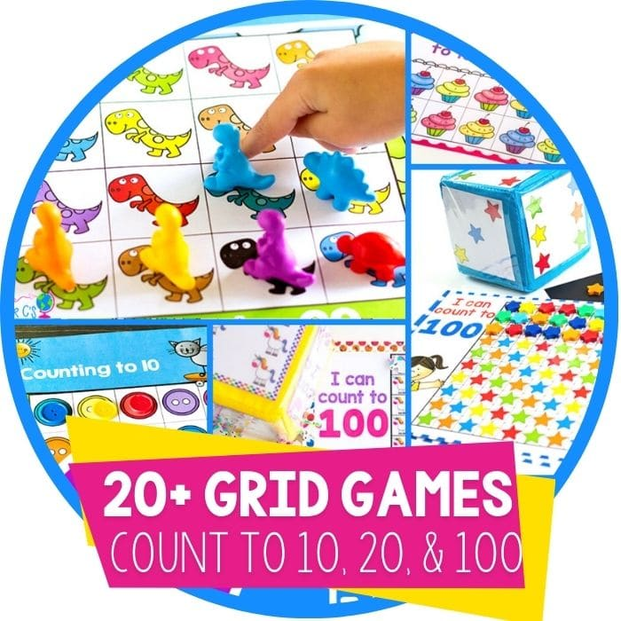 Number Grid Counting Games for Preschoolers