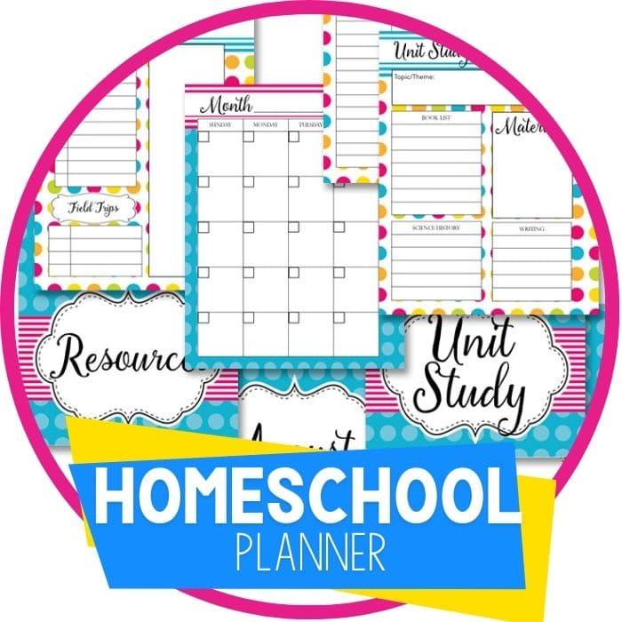 Homeschool Planner Bright Polka Dots
