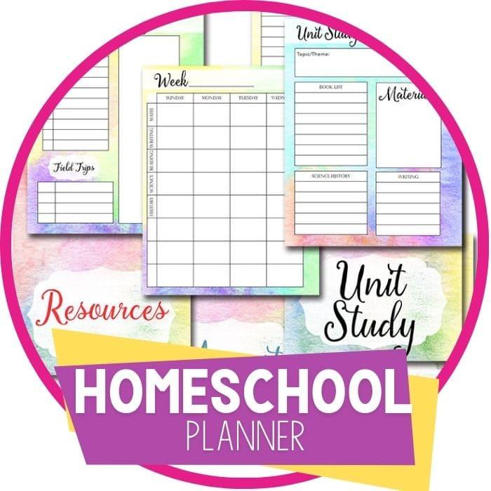 Homeschool Planner Watercolor