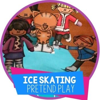 ice skating pretend play set for play dough featured image