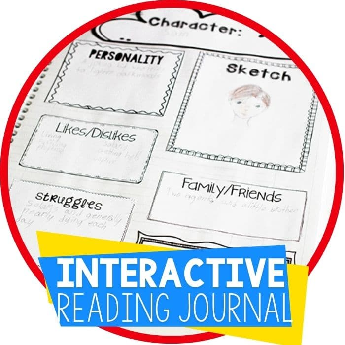free printable interactive book reading journal for elementary and middle school Featured Image
