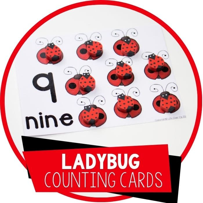 ladybug counting cards featured image