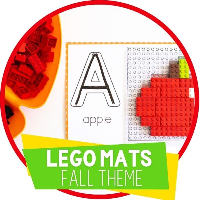 Fall Fine Motor Mats for LEGOs