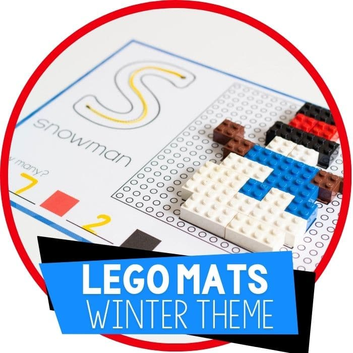 Winter Fine Motor Mats with LEGO Bricks