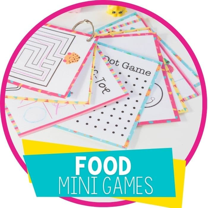 Printable Mini-Pack of Games for Kids Who Love Shopkins