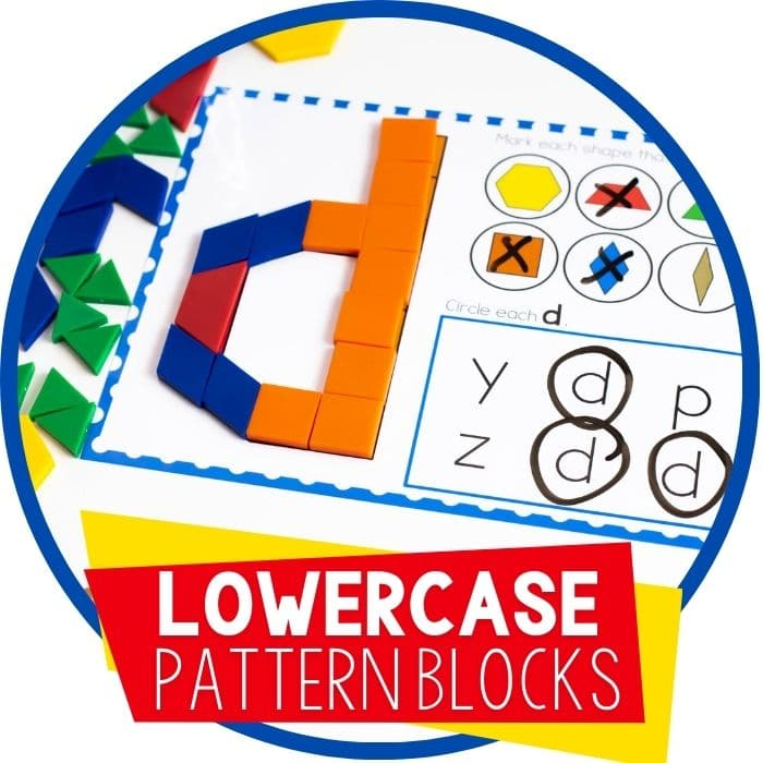 Free Printable Lowercase Alphabet Pattern Block Mats