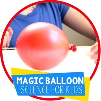 magic balloon science experiment no popping ballon for kids featured image
