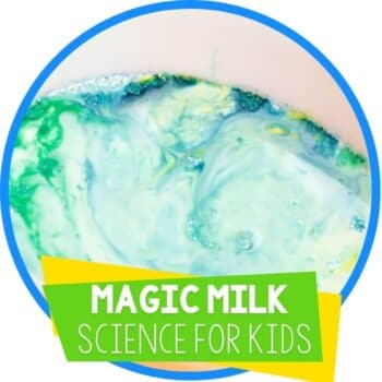 magic milk science experiment with glitter featured image