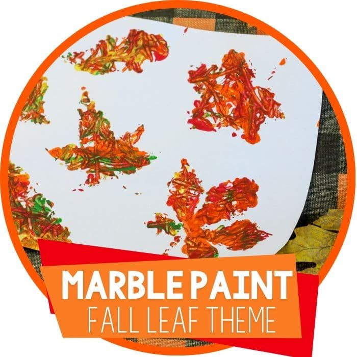 Fall Theme Marble Painting Preschool Activity