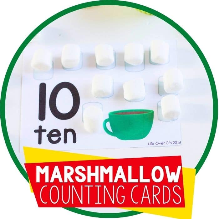 marshmallow counting cards featured image