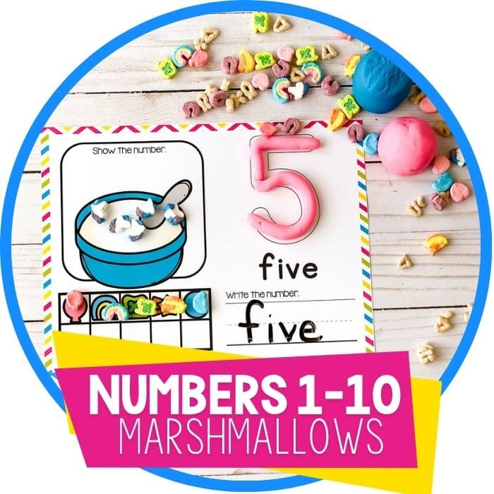 Marshmallow Counting Mats for Preschool Numbers 1-10