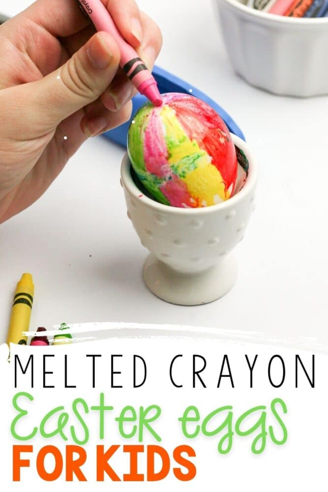How To Make Melted Crayon Easter Eggs