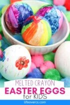 Easy Melted Crayon Easter Eggs for Kids