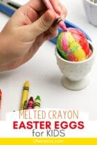 Melted Crayon Easter Eggs for Kids