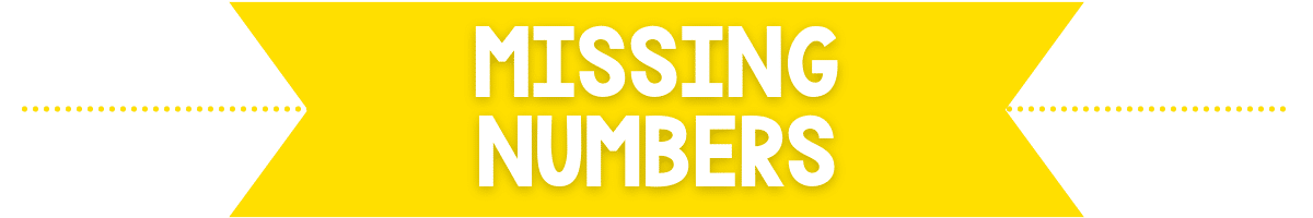 missing numbers banner image