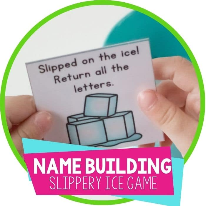 Slippery Ice Customizable Name Game