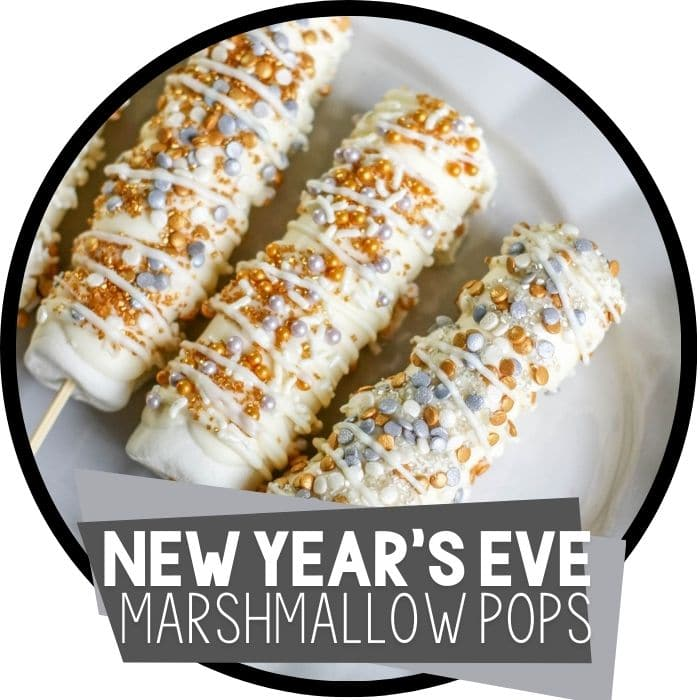 New Years Marshmallow Pops Easy Recipes for Kids