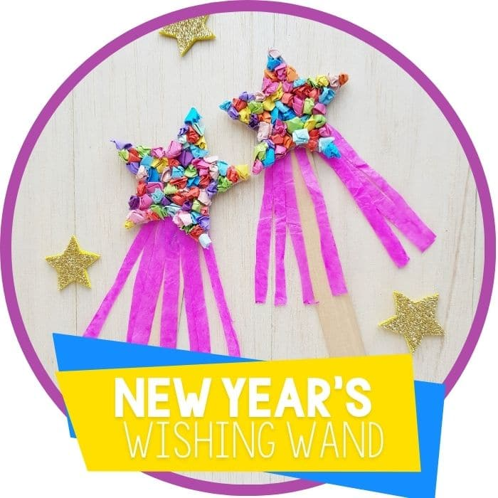 New Years Craft for Kids: Wishing Wand