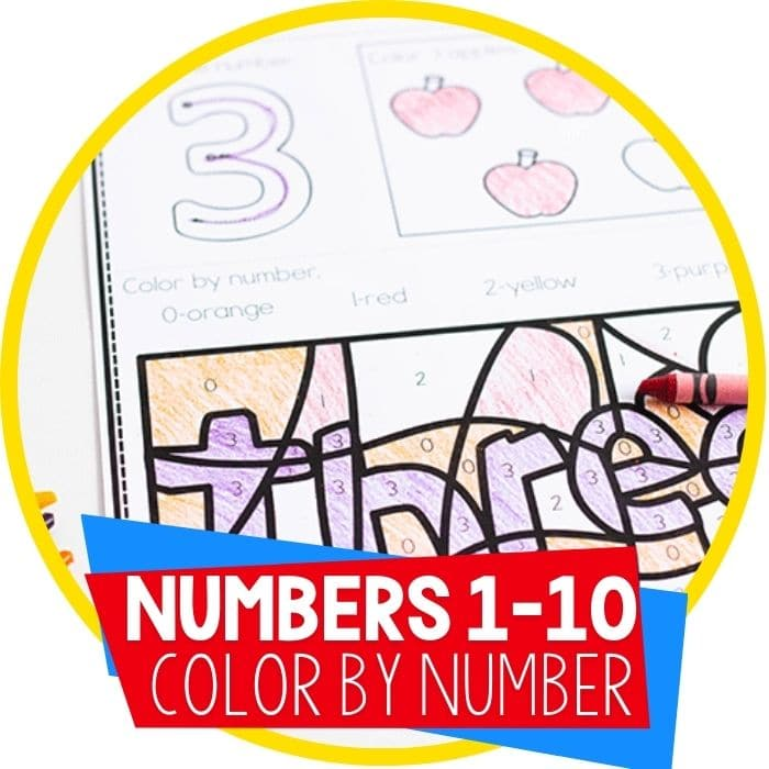 Free Color By Number Color Worksheets For 0-10