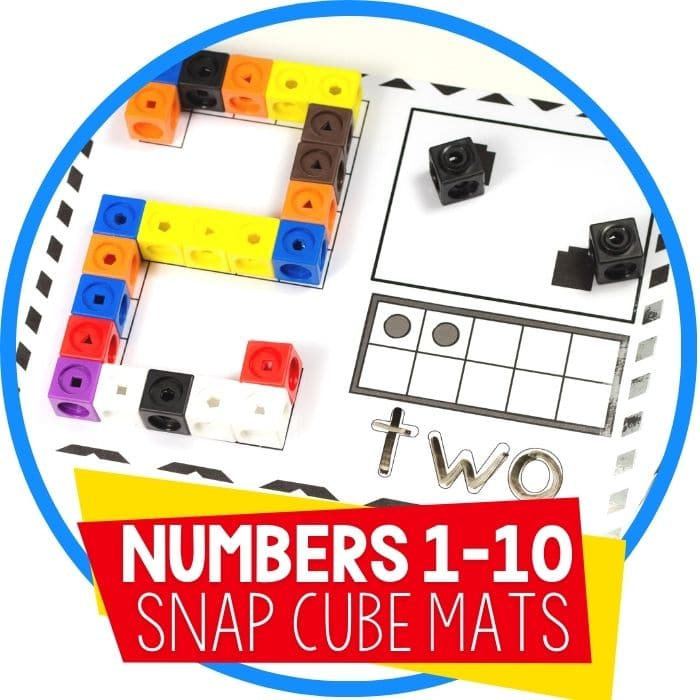 Snap Cube Number Mats for Kindergarten