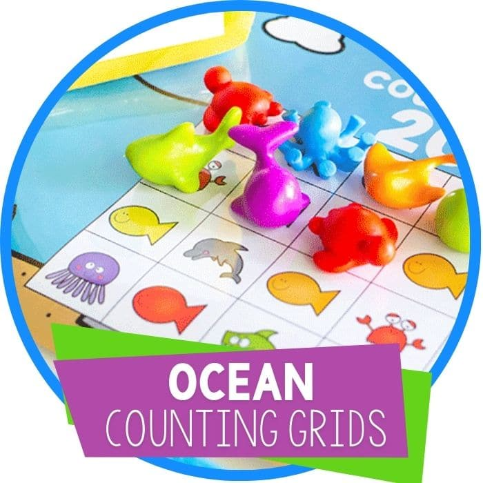 Under The Sea Counting With These Free Printable Ocean Counting Grids