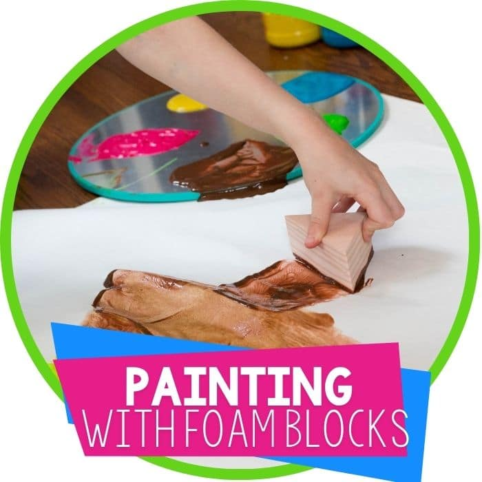 painting with foam blocks featured image
