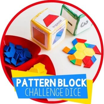 pattern block dice challenge featured image