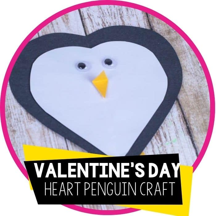 Valentine's Day Heart Penguin Craft