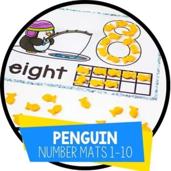 penguin number counting mats 1-10 featured image