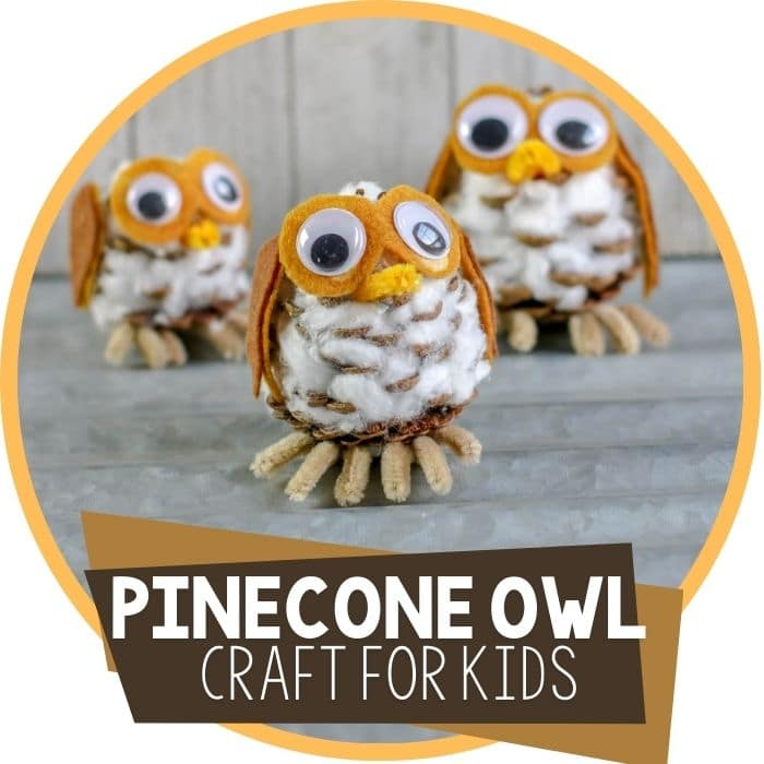 Easy Pinecone Owl Craft for Kids