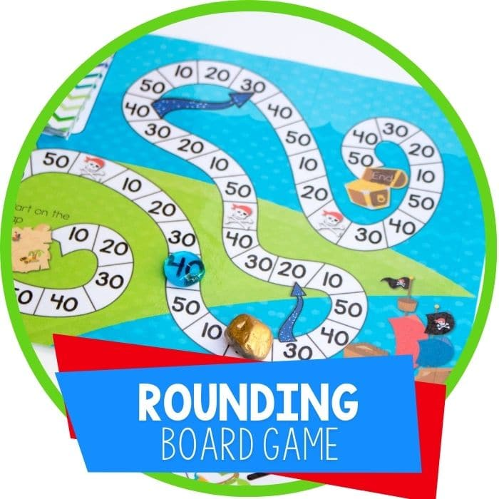 Free Printable Pirate Board Game: Rounding To the Nearest Ten