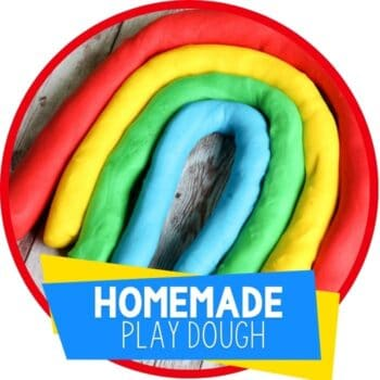 The best easy homemade play dough recipe for kids! Make rainbow play dough in just a few minutes that your kids will LOVE!