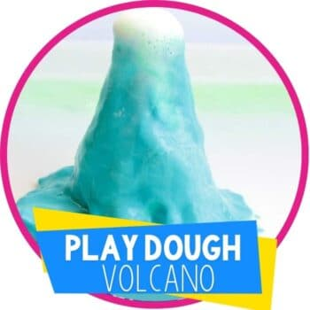 play dough volcano science experiment for kids