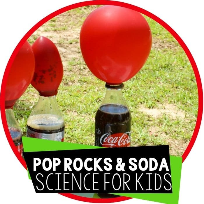 pop rocks and soda chemical reaction science experiment for kids featured image