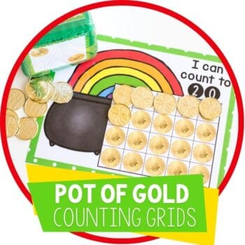 pot of gold st. patricks day counting grids featured image