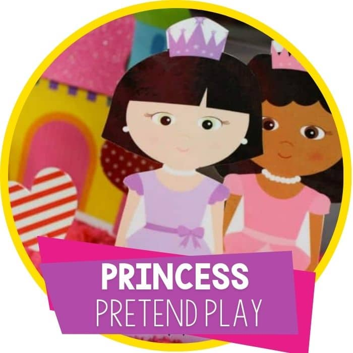 Free Princess Printable Set for Sensory Play