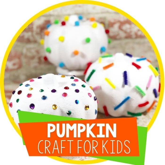 Dollar Store Fine Motor Pumpkin Craft for Kids
