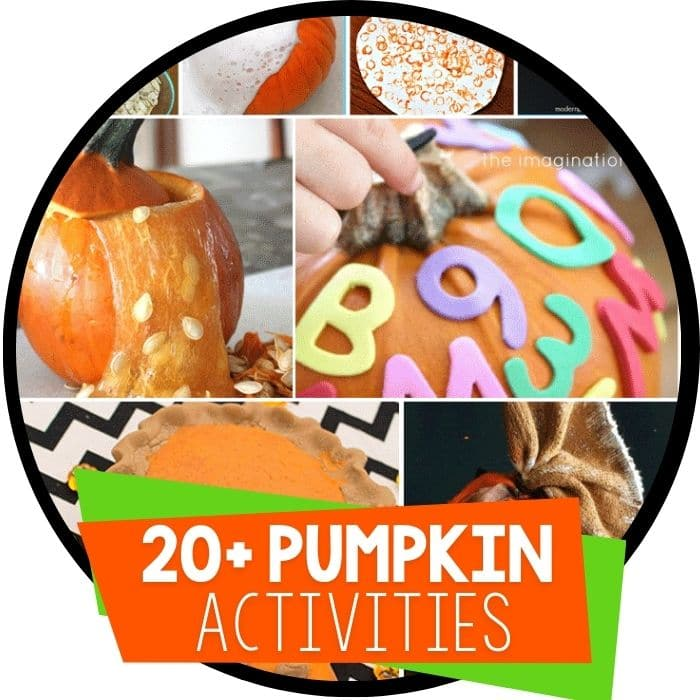 pumpkin theme activities for kids featured image