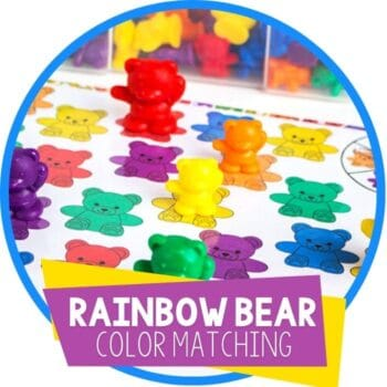 rainbow bear color matching spinner game featured image