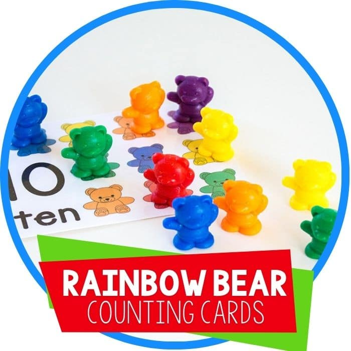 Free Printable Rainbow Bear Counting Cards