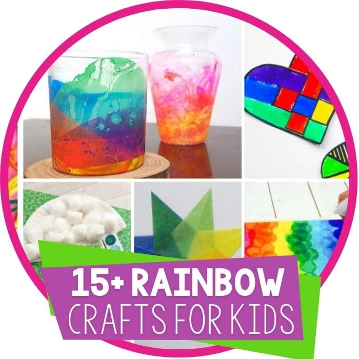 15+ Rainbow Crafts for kids Featured Image