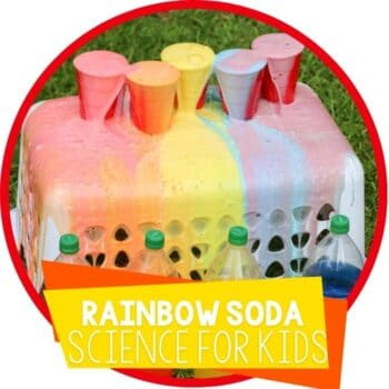 Rainbow Soda and Mentos science experiment featured image.