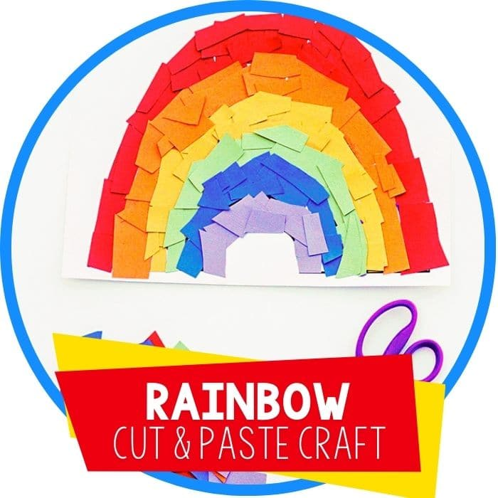 rainbow cut and paste template for spring art featured image