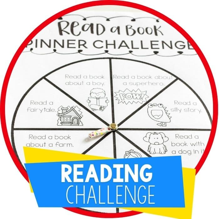 Free Printable Spinner Reading Challenge