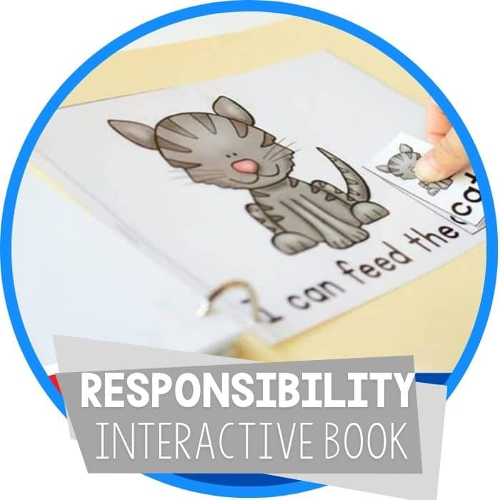 Responsibility for Preschoolers: FREE Leveled Interactive Book and Memory Game