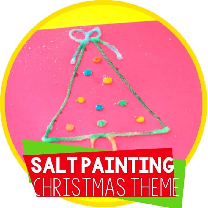 Salt Painted Christmas Tree Activity Featured