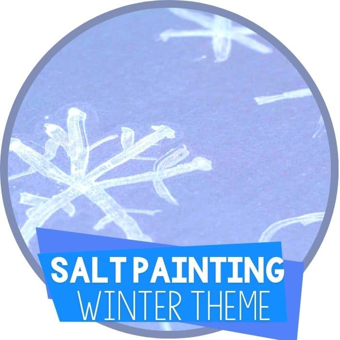 Winter Salt Painting Art Activity