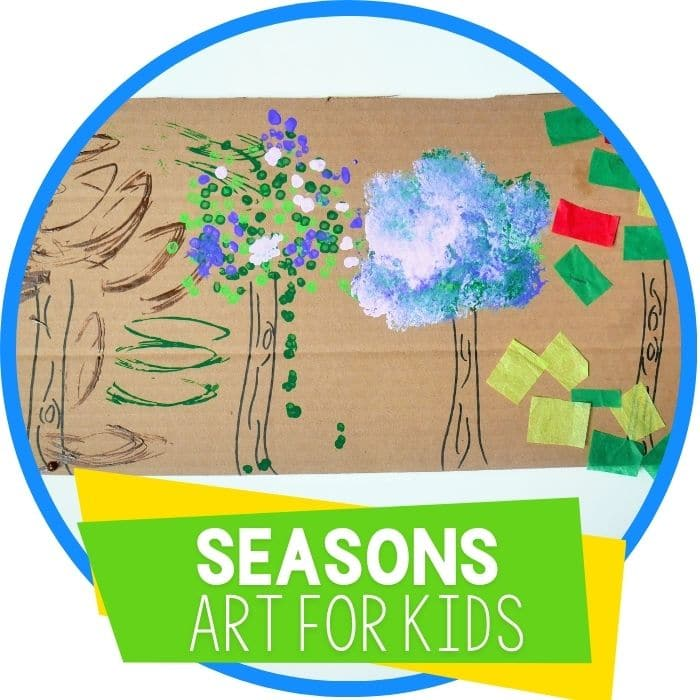 Four Seasons of a Tree Preschool Art Activity